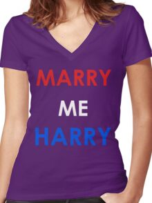 Marry Me Harry (Colour) Women's Fitted V-Neck T-Shirt