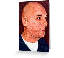Portrait of a Bald Man Greeting Card
