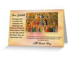 Reminder to Godchild - All Saints Day Greeting Card