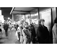 1985 - waiting for the night bus Photographic Print