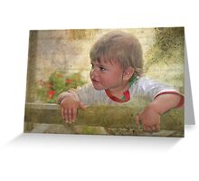 """""""Just Being a Boy ..."""" Greeting Card"""
