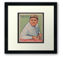 Benjamin K Edwards Collection George Herman Babe Ruth Big League Chewing Gum Baseball Card Framed Print