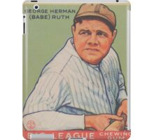Benjamin K Edwards Collection George Herman Babe Ruth Big League Chewing Gum Baseball Card iPad Case/Skin