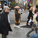 Monk at Ginza by Hikaru Yagi