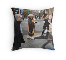 Monk at Ginza Throw Pillow