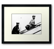 1985 - watching back  Framed Print