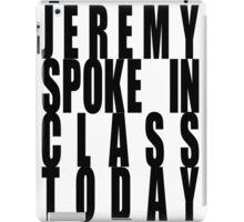 Jeremy Spoke iPad Case/Skin