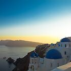 Oia, Santorini at Sunset by pixntxt