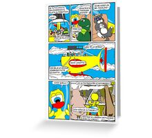 """Rick the chick  """"THE MAGIC SHELL parte 36"""" Greeting Card"""