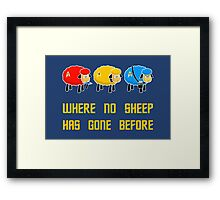 Where no Sheep Has Gone Before Framed Print