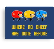 Where no Sheep Has Gone Before Canvas Print