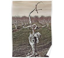 Sculpture in Orchard Poster