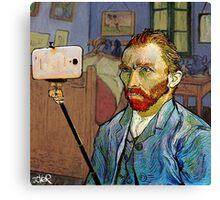 vincent van selfie Canvas Print