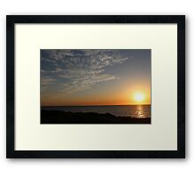 Sunset Highlighting the Sky Landscape - BB0296 Framed Print