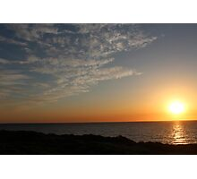 Sunset Highlighting the Sky Landscape - BB0296 Photographic Print