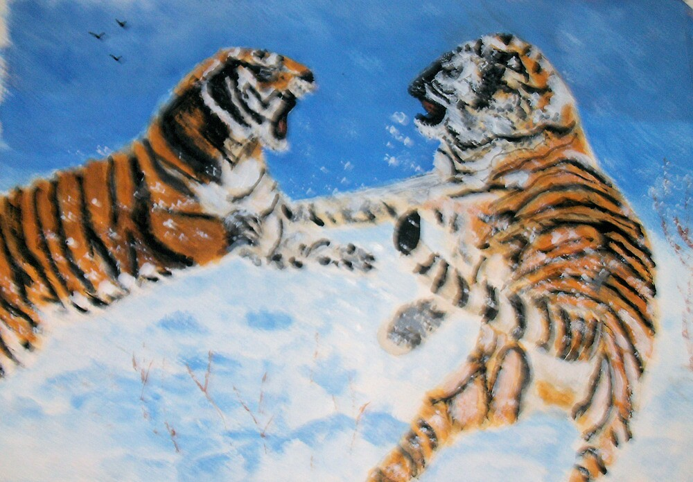 Cat Fight by GEORGE SANDERSON