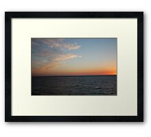 Skyline over the ocean - BB0335 Framed Print