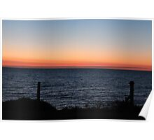 Fence View of Sunset - BB0418 Poster
