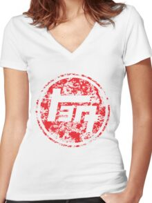 Vintage Distressed Toyota Women's Fitted V-Neck T-Shirt