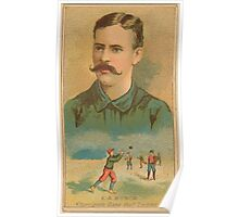 Benjamin K Edwards Collection E A Burch Brooklyn Trolley Dodgers baseball card portrait Poster