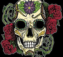 Day Of The Dead Skull by LovelessDGrim