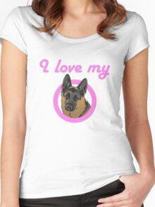 I love my German Shepard! Women's Fitted Scoop T-Shirt