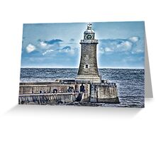 Harbour Light - Tynemouth. Greeting Card