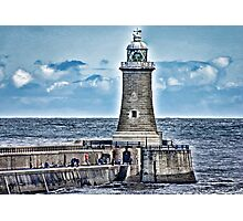 Harbour Light - Tynemouth. Photographic Print
