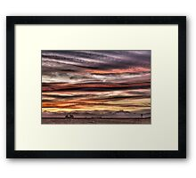Colorado Sunset Paint Brush Framed Print