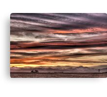 Colorado Sunset Paint Brush Canvas Print
