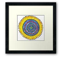 Mandala - Sunflower Framed Print
