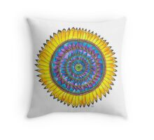 Mandala - Sunflower Throw Pillow