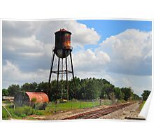 Water Tower at Industrial Site Poster
