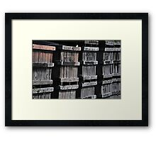 Orange Crates Framed Print