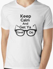 Keep Calm and Get Ya Geek On  Mens V-Neck T-Shirt