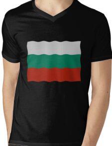 Bulgarian flag Mens V-Neck T-Shirt