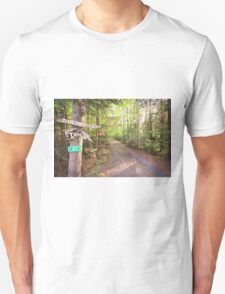 Rural Path through the woods Unisex T-Shirt