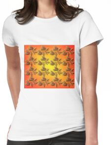 Prickly Bright Flower Duvet Womens Fitted T-Shirt
