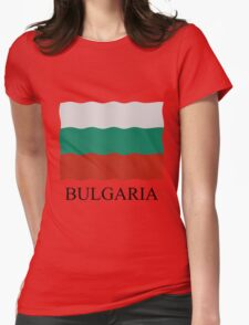 Bulgarian flag Womens Fitted T-Shirt