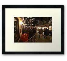 Chicago's Picasso surrounded by xmas stuff Framed Print