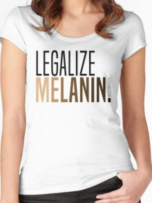 LEGALIZE MELANIN Women's Fitted Scoop T-Shirt