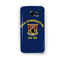 USS Forrestal (CV-59 AVT-59, CVA-59) Crest for Dark Colors Samsung Galaxy Case/Skin