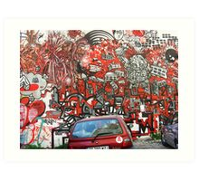 Unbelievable red graffiti Art Print