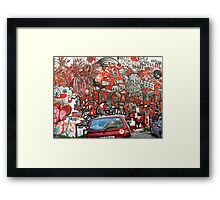 Unbelievable red graffiti Framed Print