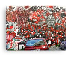 Unbelievable red graffiti Canvas Print