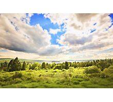 Sunny Lakeside Landscape Photographic Print