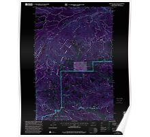 USGS Topo Map Washington State WA Darland Mountain 240773 2000 24000 Inverted Poster