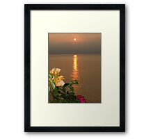 Sun of the late afternoon Framed Print