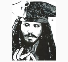 Johnny Depp aka Capt Jack Sparrow T-Shirt by chrisjh2210