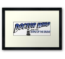 Doctor Who and the Temple of the Daleks Framed Print
